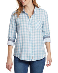 Women's Shirts - ROSELAND WOMEN'S SHIRT - BLUE/WHITE (FINAL SALE)
