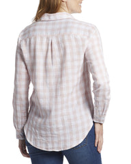 Women's Shirts - ROSELAND WOMEN'S SHIRT - PINK/WHITE (FINAL SALE)