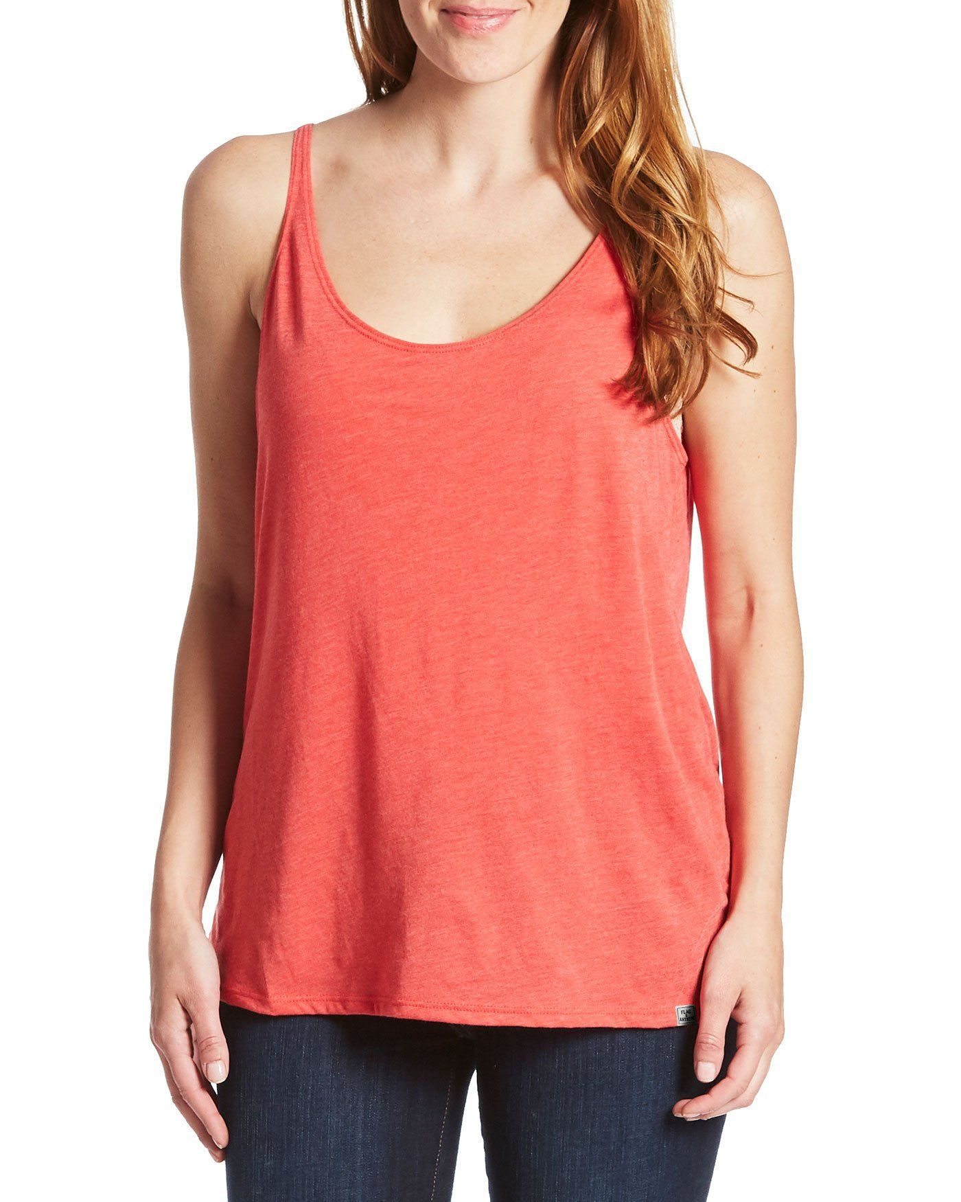Women's Tanks - HARLEIGH WOMENS TRIBLEND TANK - RED (FINAL SALE)