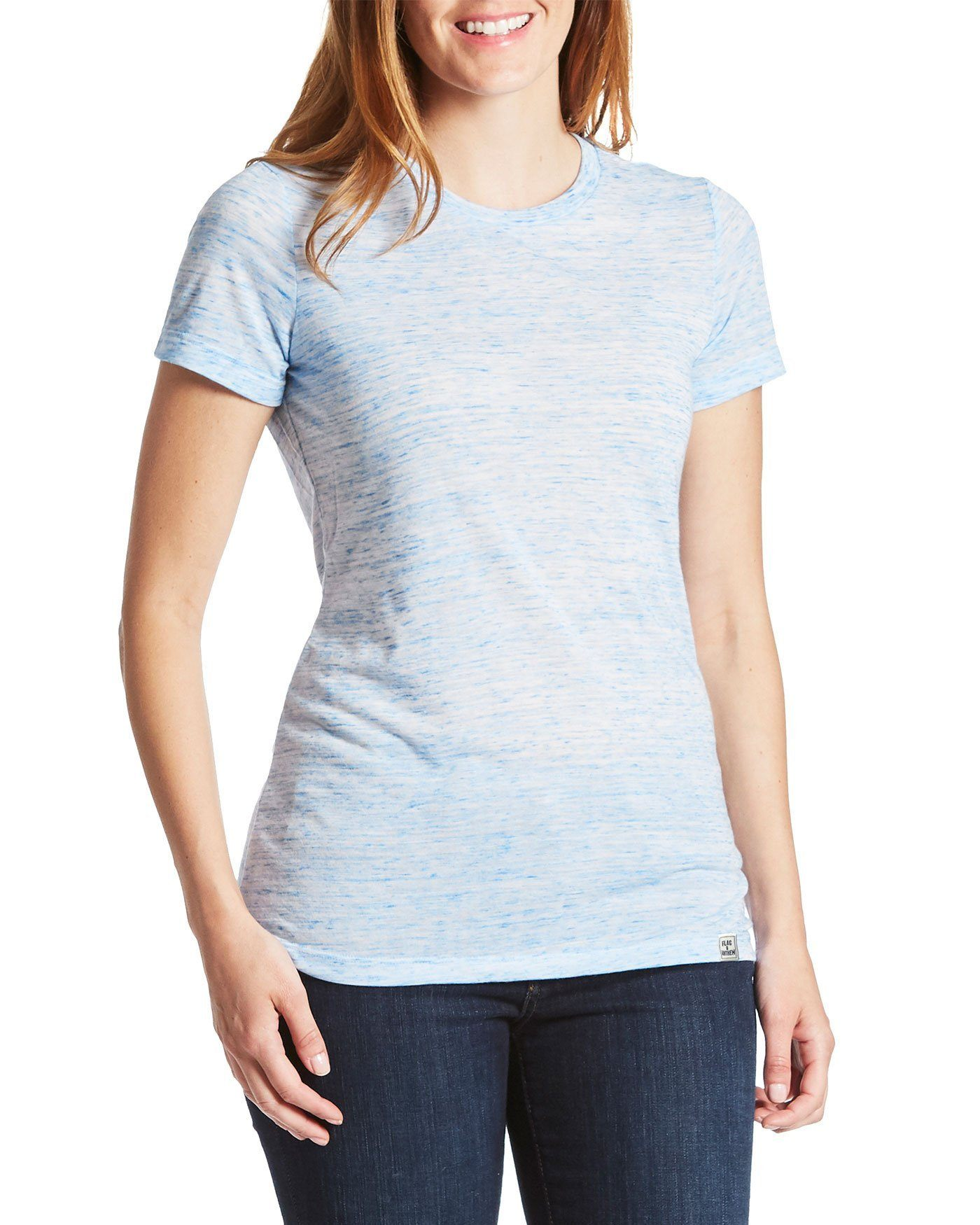 Women's Tees - Byrnedale Womens Tee - White/Blue (FINAL SALE)