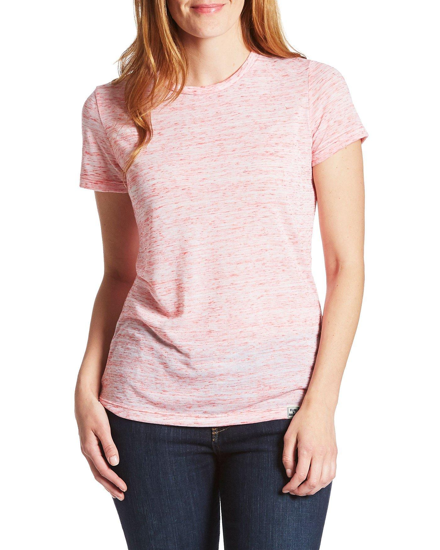 Women's Tees - BYRNEDALE WOMENS TEE - WHITE/RED (FINAL SALE)