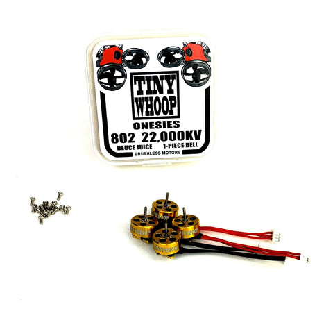 802 22,000kv Tiny Whoop Onesies Brushless Motors - Deuce Juice