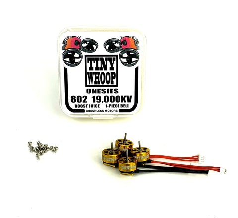 802 19,000kv Tiny Whoop Onesies Brushless Micro Motors - Boost Juice
