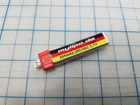 MyLipo 205mah 1s Battery - POWERWHOOP Connector type for Tiny Whoop - Tiny Whoop