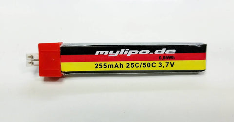 Mylipo 255mah 25C 1s battery with PW connector for the Tiny Whoop - Tiny Whoop