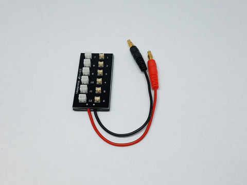 Tiny Whoop Parallel Charging Board for 1s LiPos - 6 port - Tiny Whoop