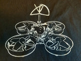 T-Shirt - White TW1 Outline - Tiny Whoop