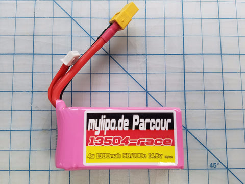 "MyLipo ""Parcour"" 1300mah 4S 50C/100C Battery - Tiny Whoop"
