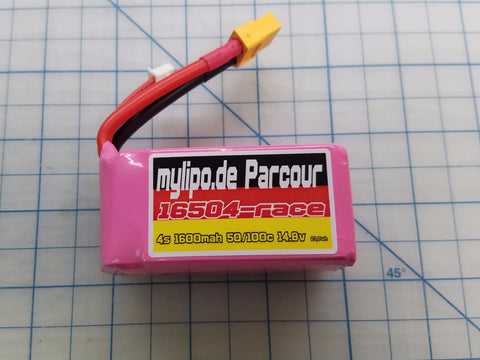 "MyLipo ""Parcour"" 1600mah 4S 50C/100C Battery - Tiny Whoop"