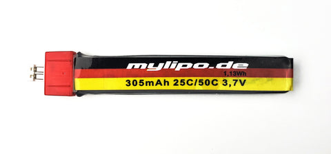MyLipo 305mah 1s Lipo Battery - POWERWHOOP (PW) (JST2.0) Connector - Tiny Whoop