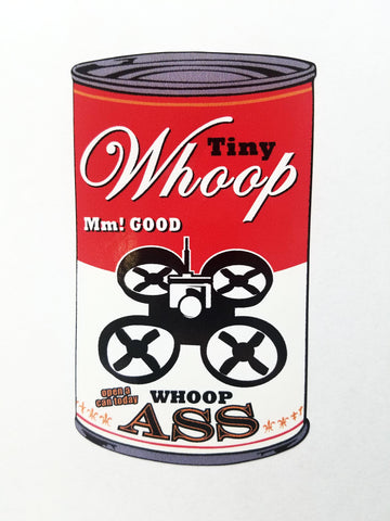 Can of Whoop Ass Decal - Tiny Whoop