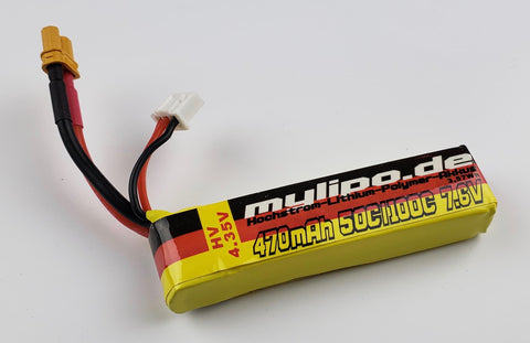 MyLipo 470mAH 2S HV 7.6v Lipo Battery - XT30 Connector - Tiny Whoop