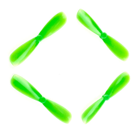 Gemfan 45MM ABS Green or Black BiBlade Props (.8mm Shaft) - Tiny Whoop