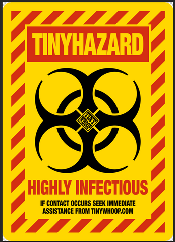 TINY HAZARD Poster - Tiny Whoop