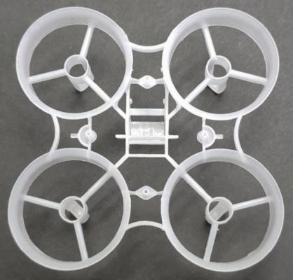 65mm Clear Plastic Frame with 7mm motor mounts - V4 - Tiny Whoop