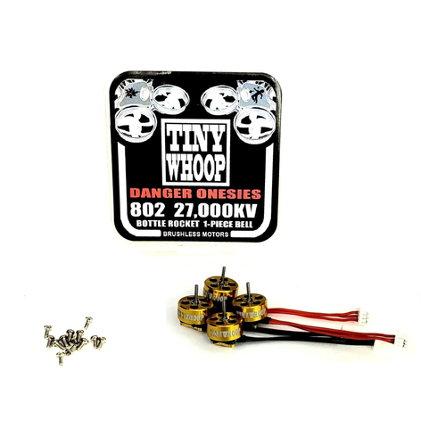 802 27000kv Tiny Whoop DANGER Onesies Brushless Motors - Bottle Rockets
