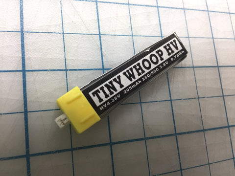 TINY WHOOP HV 205mah 1s Lipo BATTERY - Micro JST - Tiny Whoop