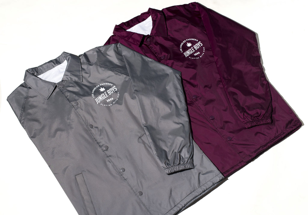 Since 2006 Coaches Jackets in Burgundy and Light Grey