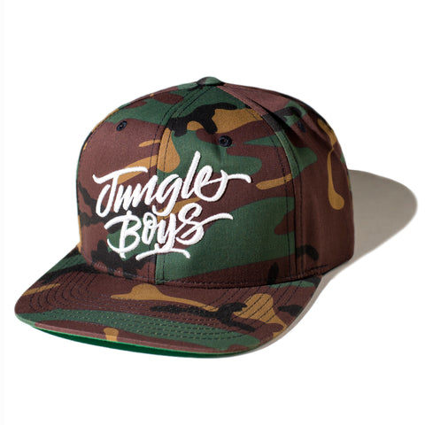 Stacked Snapback  (Camo/White)