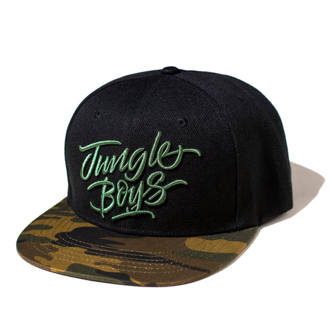 Stacked Snapback (Black/Camo)