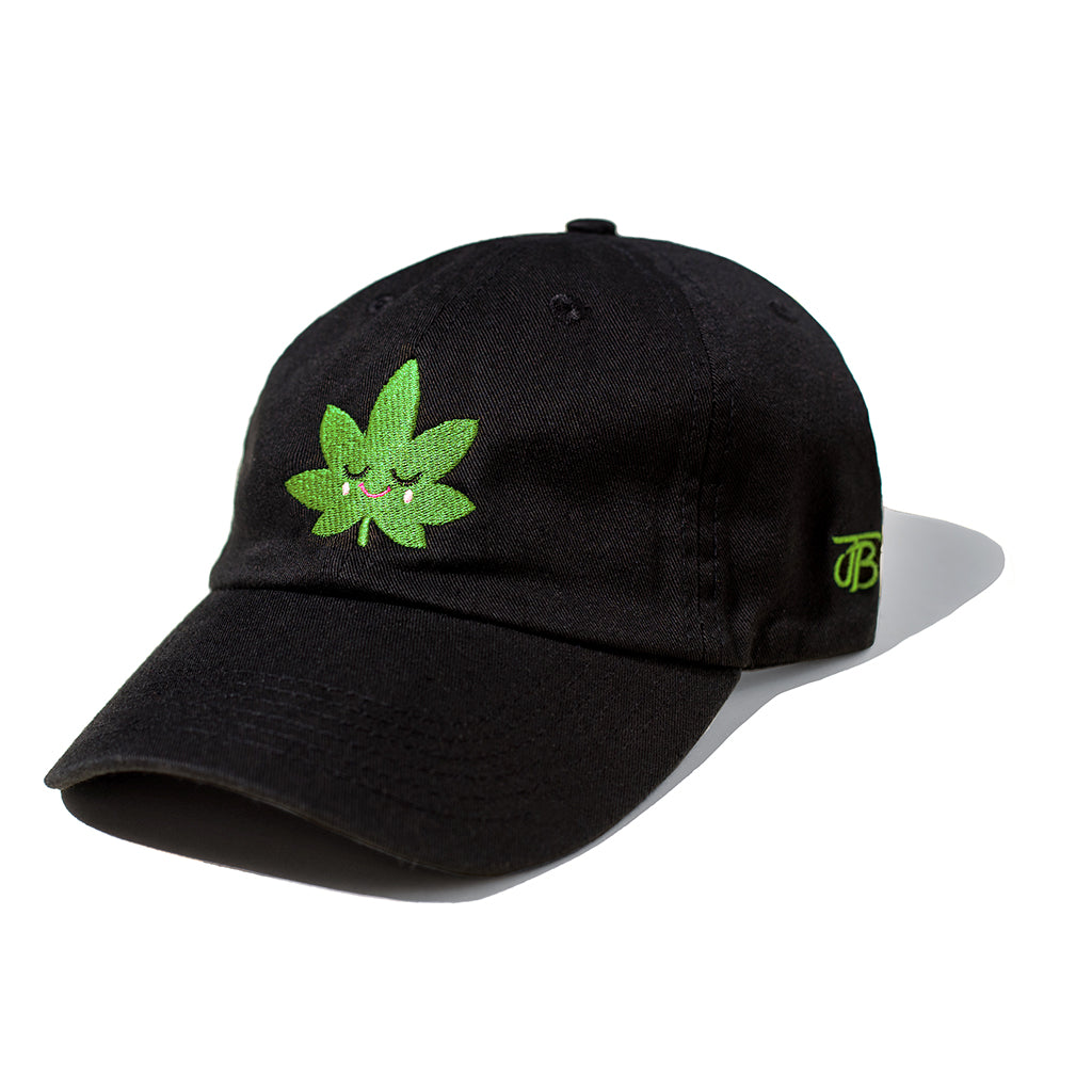 Happy Leaf Dad Cap (Black/Green)