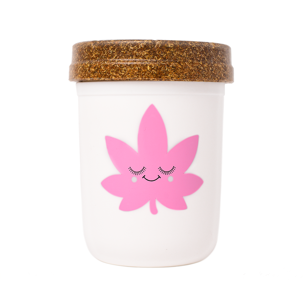 Happy Leaf Medium Re:stash Jar (Assorted Colors)