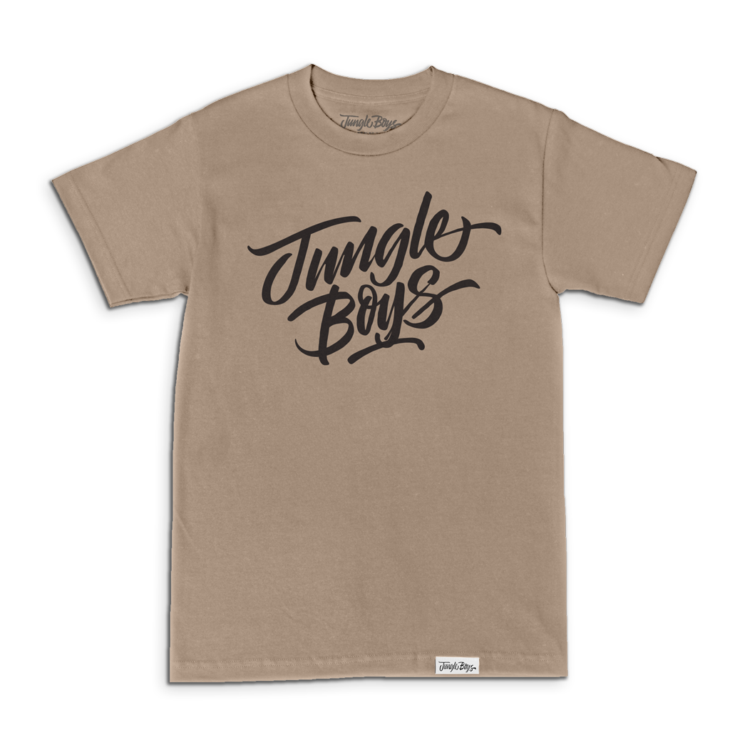 Stacked Tee (Sand/Black)