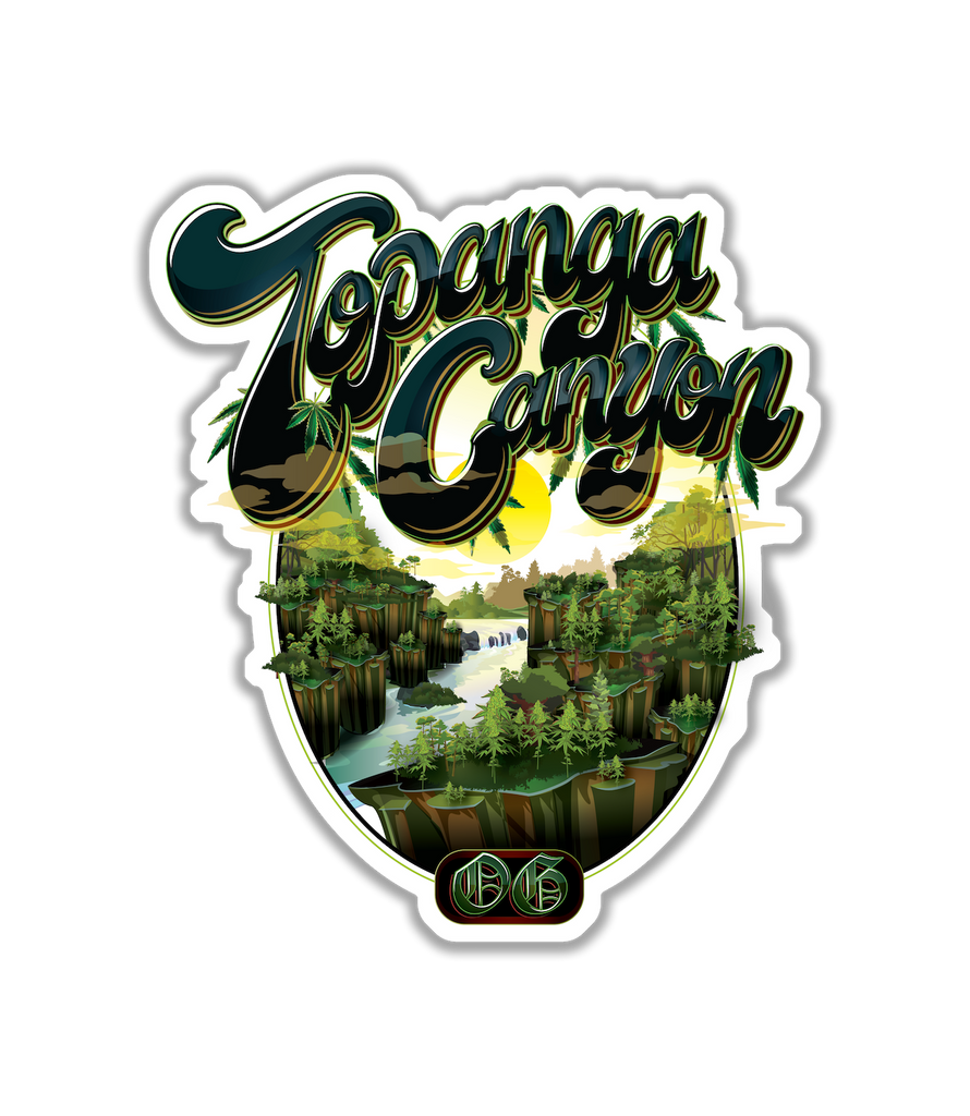 Topanga Canyon OG Sticker