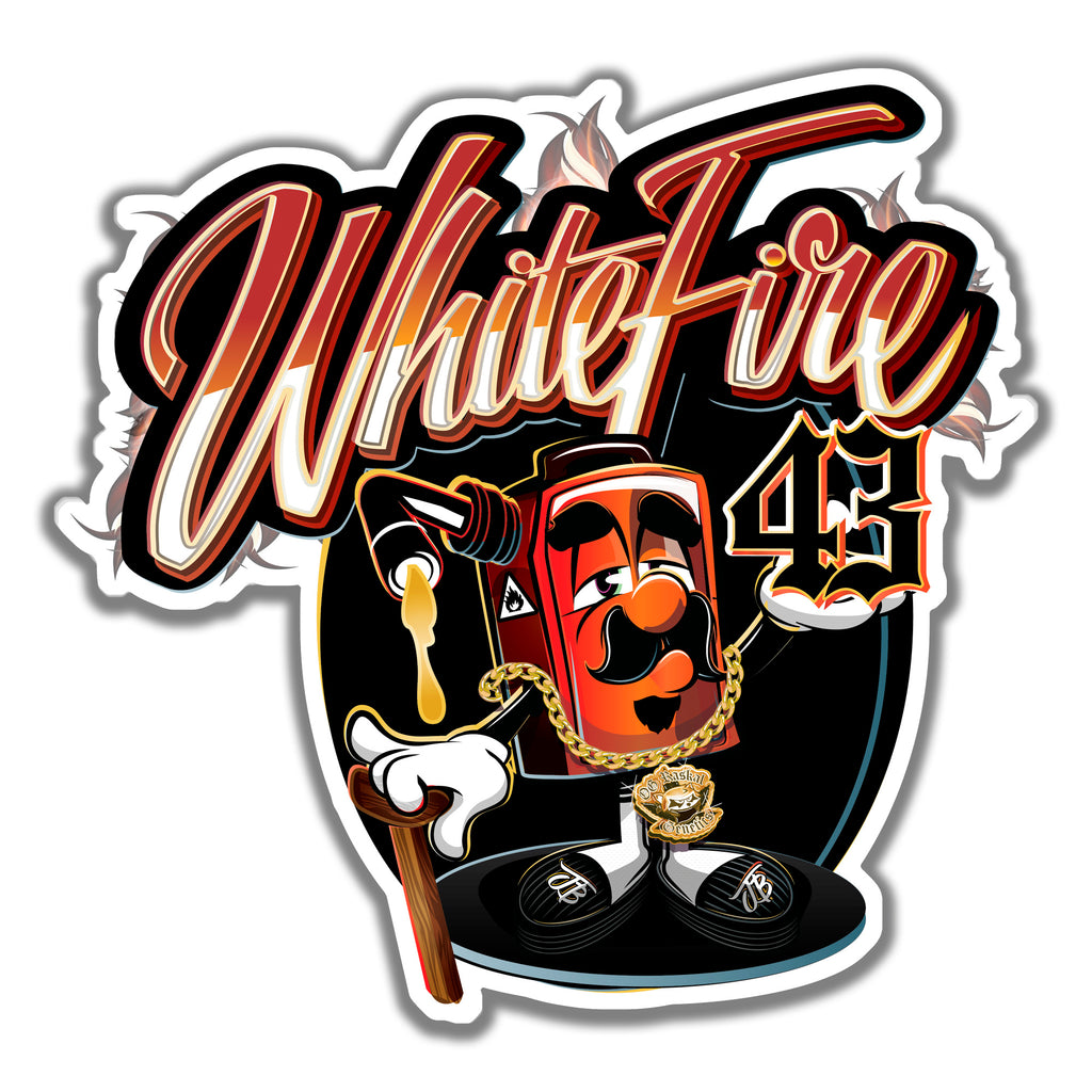 White Fire #43 Sticker