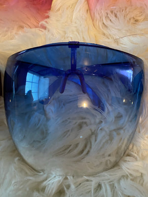 royal blue dome face shield
