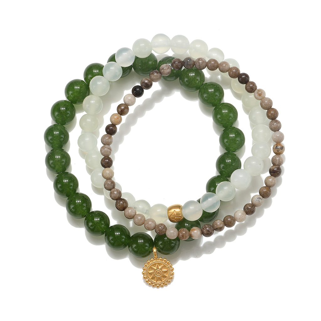 Mandala Lotus Bracelet Set - Satya Jewelry