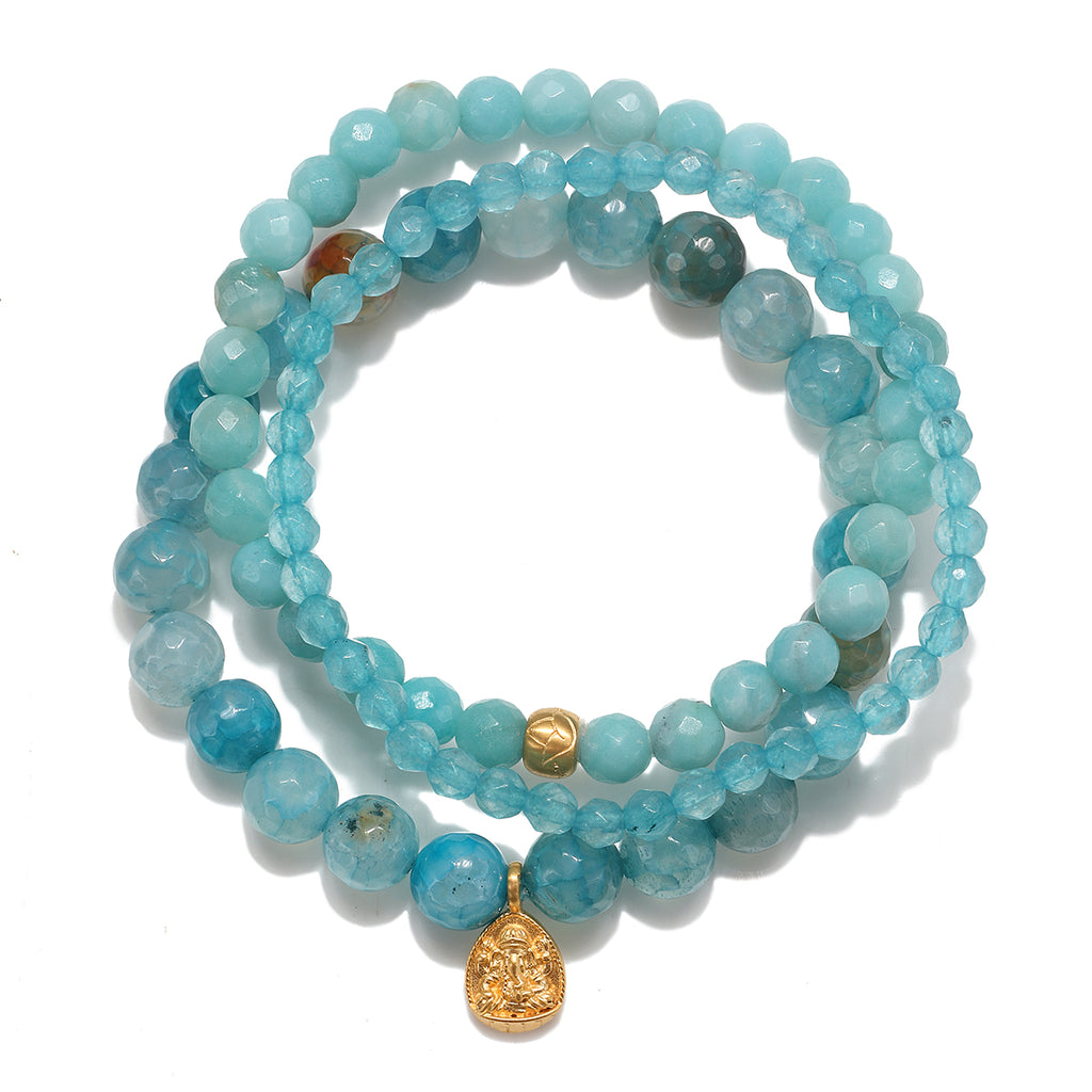 Ganesha Lotus Set Bracelet - Satya Jewelry