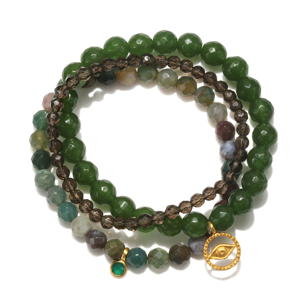 Be the Change Stretch Bracelet Set - Satya Jewelry