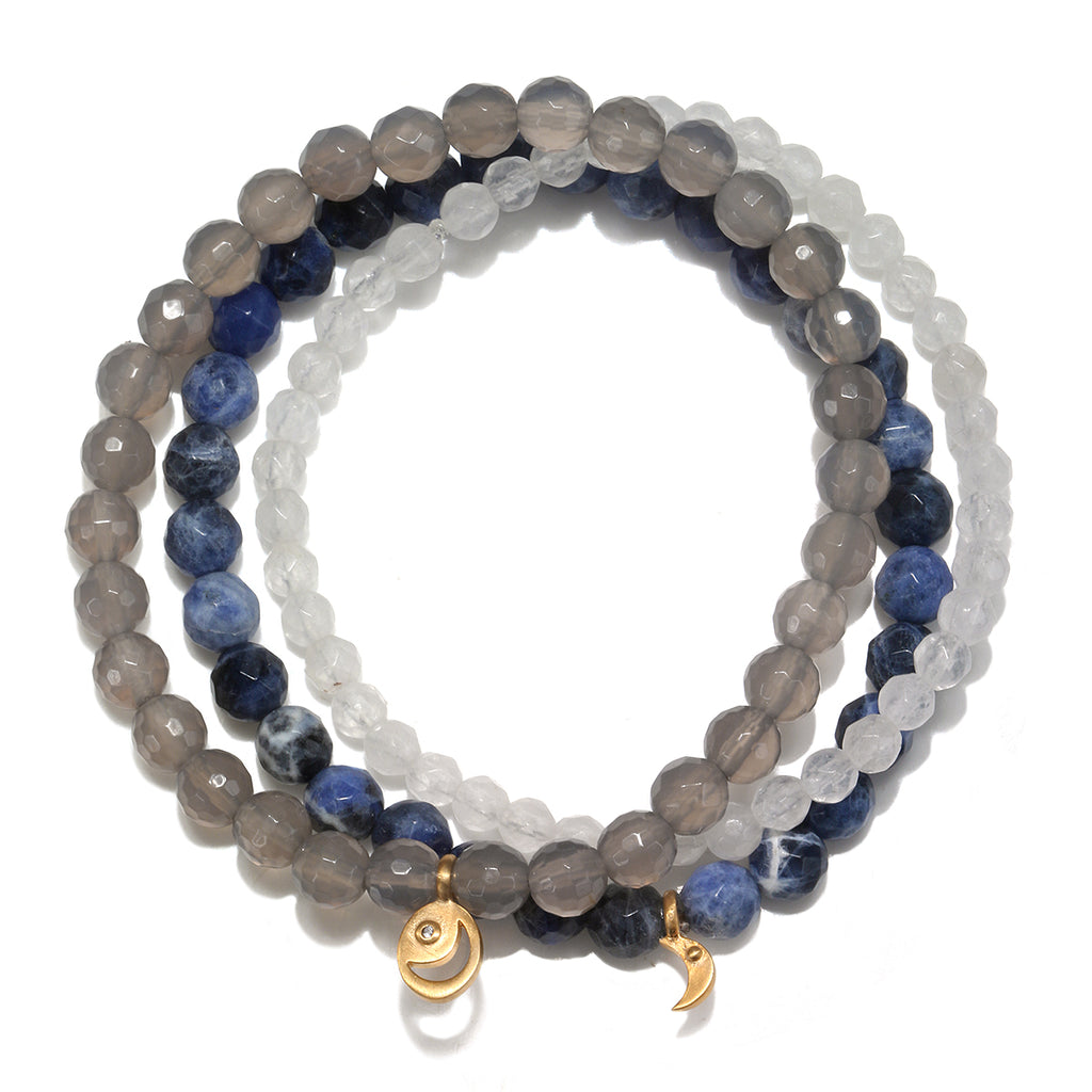 Peace & Protection Bracelet Set - Satya Jewelry
