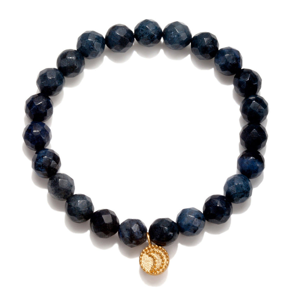 Gloaming Dumortierite Moon Stretch Bracelet - Satya Jewelry
