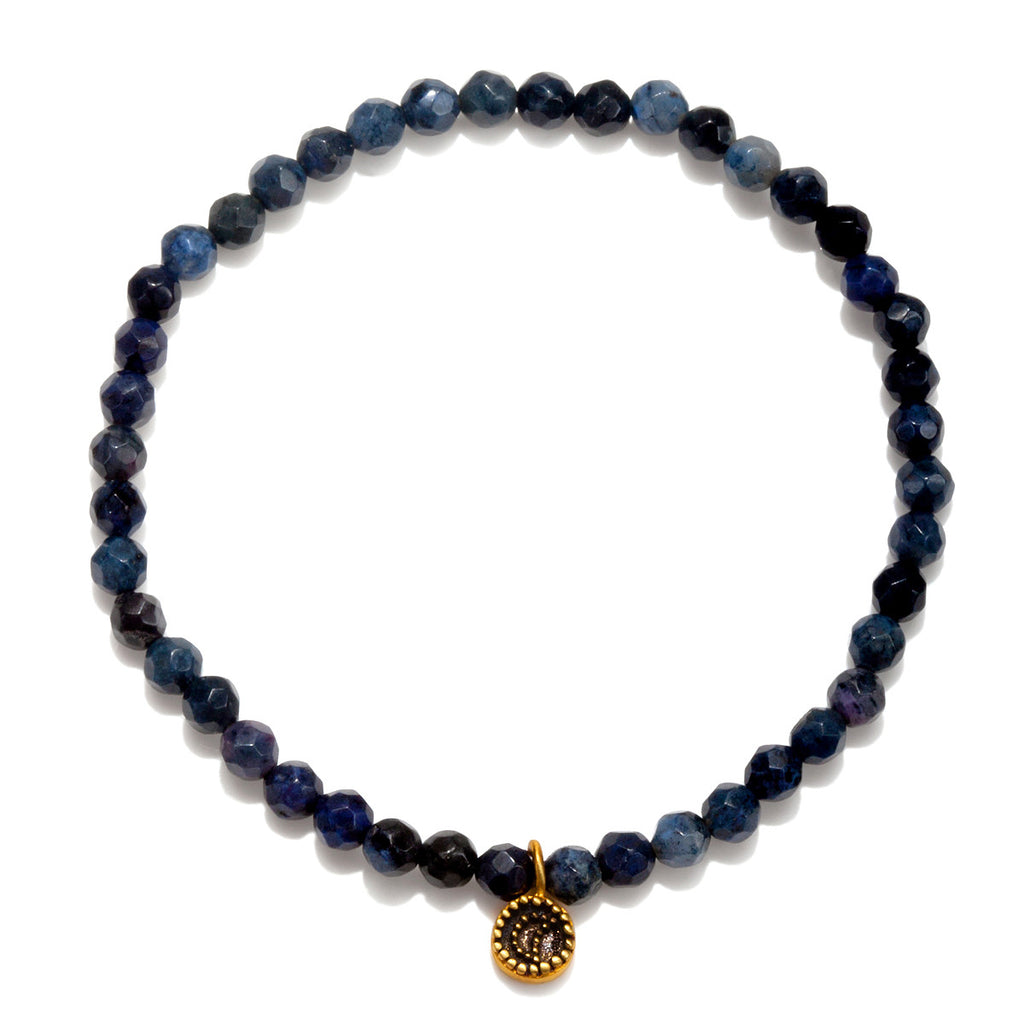 Dumortierite Moon Stretch Bracelet - Out of the Blue - Satya Online