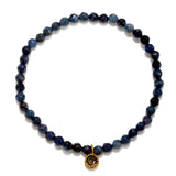 Dumortierite Moon Stretch Bracelet - Out of the Blue - Satya Jewelry