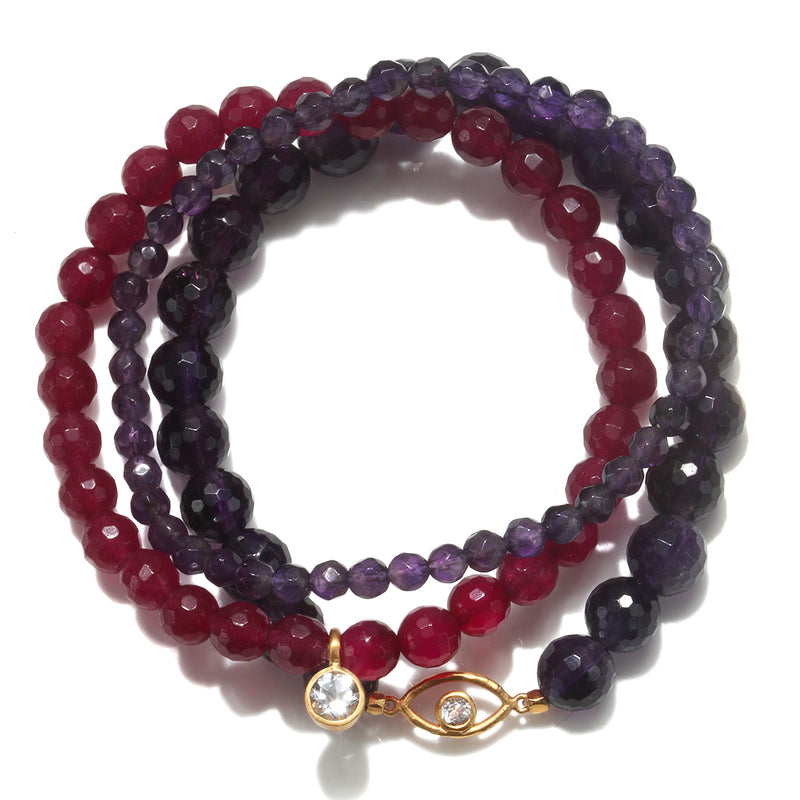 Protected with Positivity Bracelet Set - Satya Jewelry