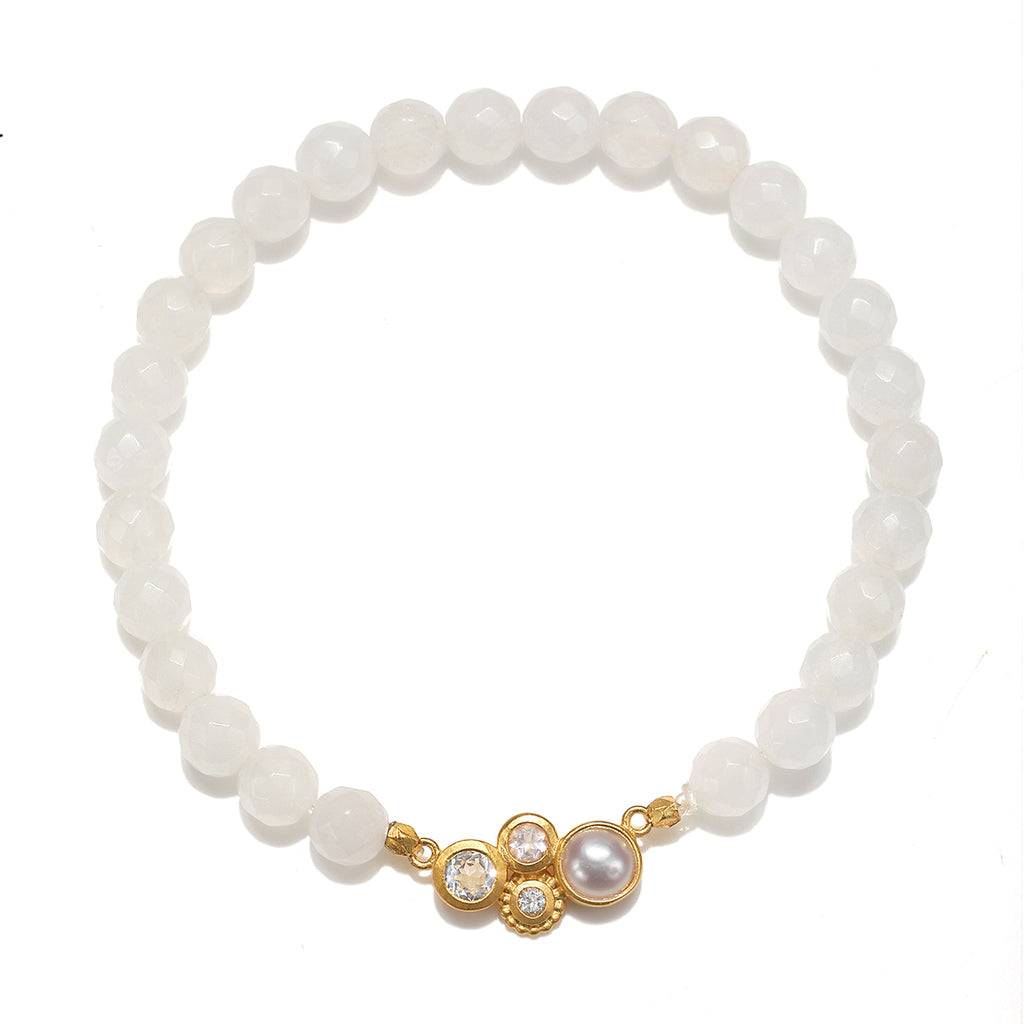 In Unity White Jade Bracelet - Satya Jewelry