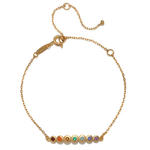 Flowing Energy Gold Chakra Bracelet - Satya Jewelry