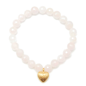Heart Rose Quartz Bracelet