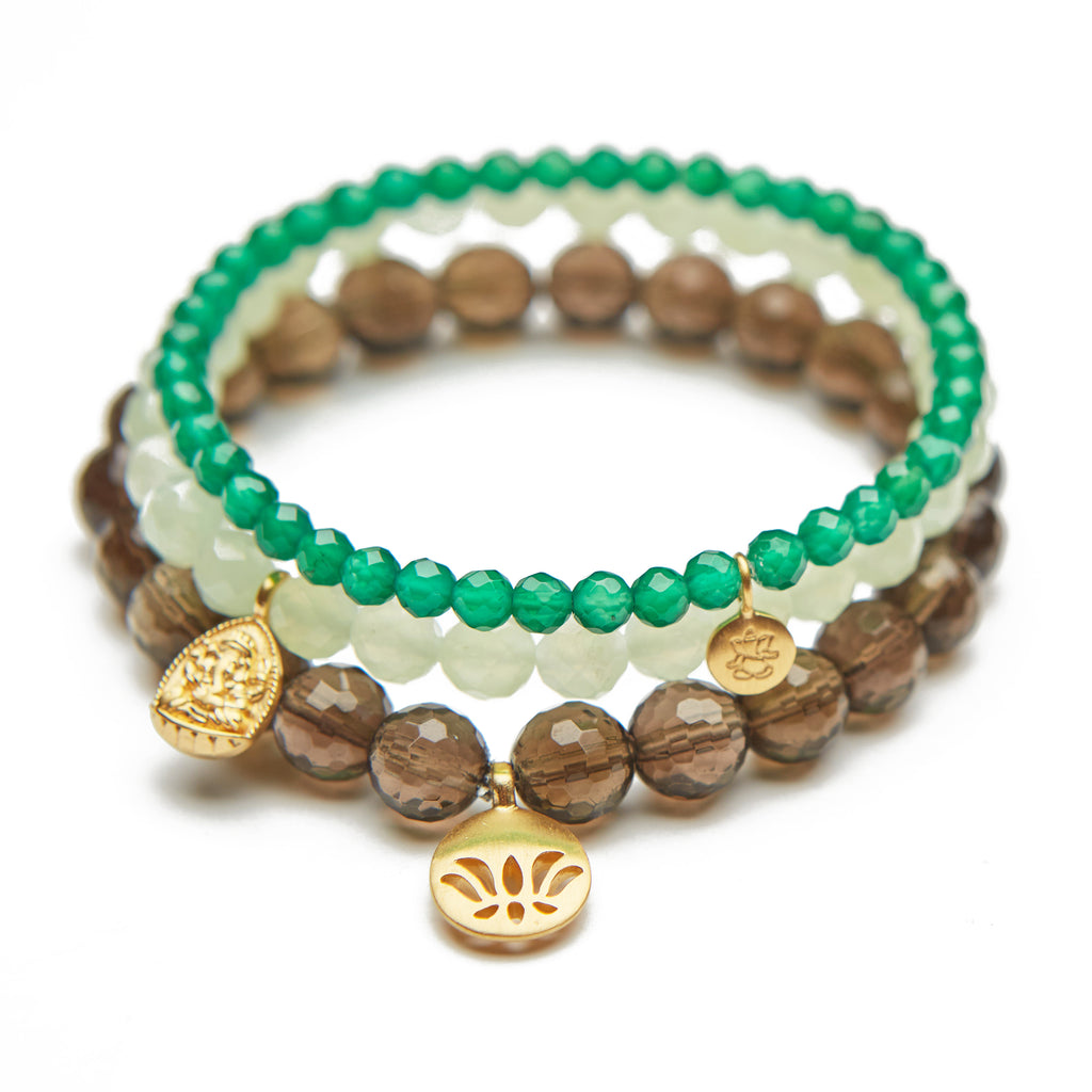 Lotus Ganesha Set Bracelet - Satya Jewelry