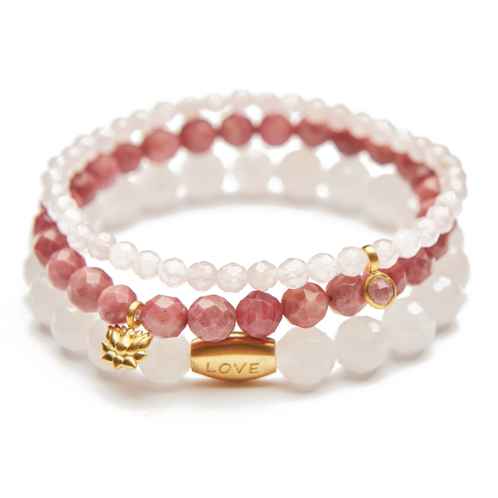 Lotus Love Set Bracelet - Satya Jewelry