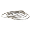 Silver Etched Bracelet Bangle - Melody
