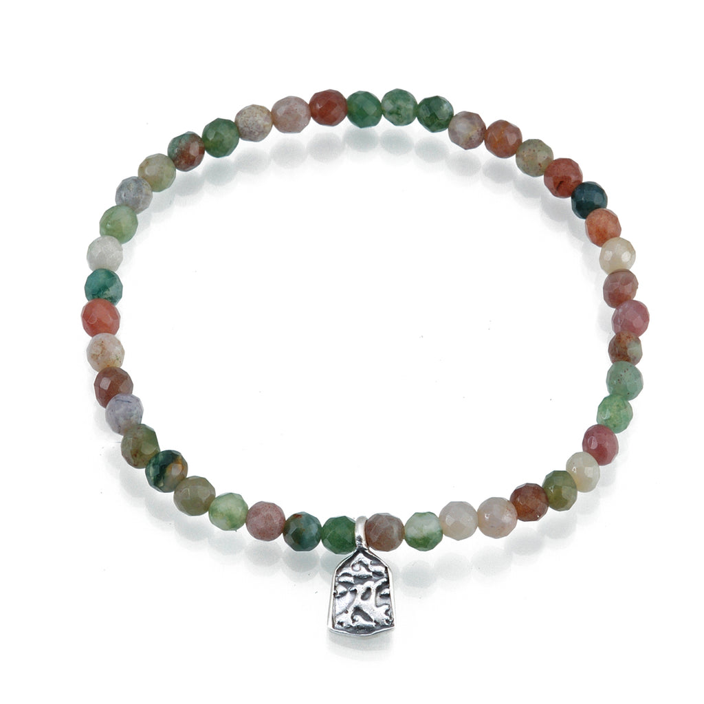 Silver Fancy Jasper Tree Bracelet - Layer Upon Layer