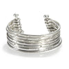 Small Silver Bangle Bracelet Cuff - Something Special