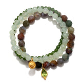 Grounding Tranquility Stretch Bracelet Set - Satya Jewelry