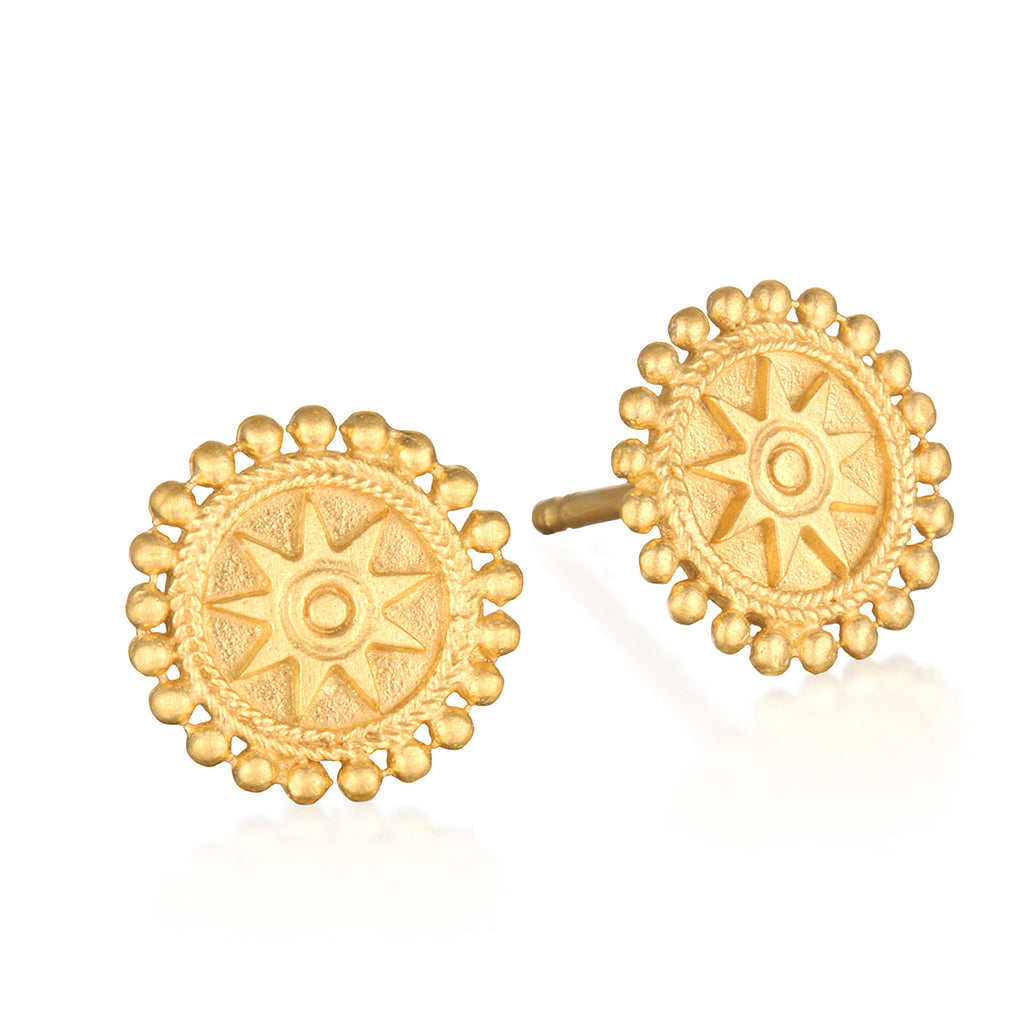 Limitless Stud Earrings Gold - Satya Online