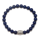 Men's Lapis Eye Pendant Stretch Bracelet