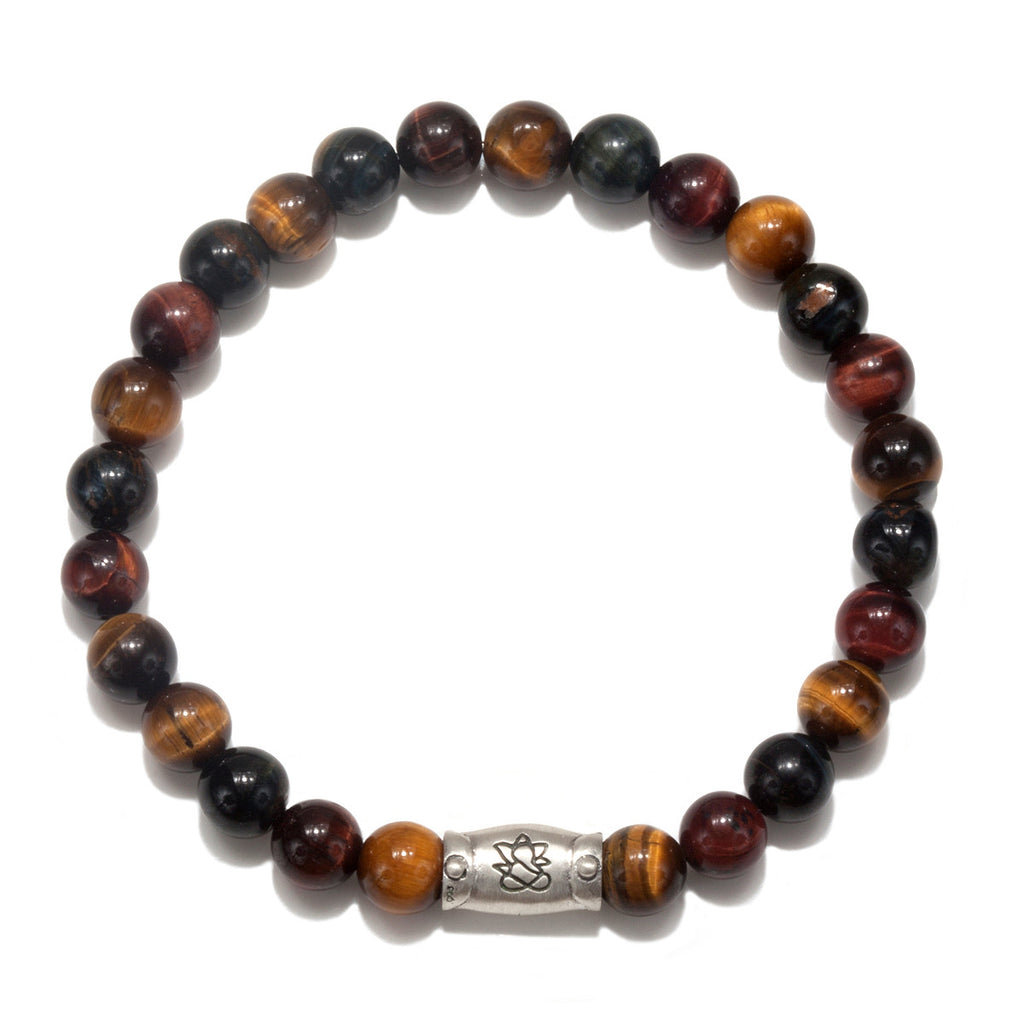 Men's Tiger Eye Ganesha Pendant Stretch Bracelet